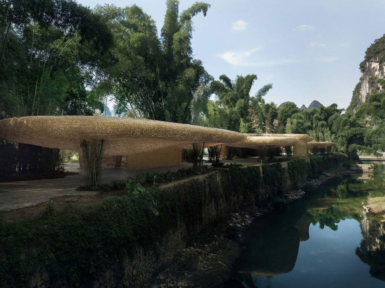 Bamboo Bamboo, marquesina y pabellones por IILab. Fotografía por Arch-Exist