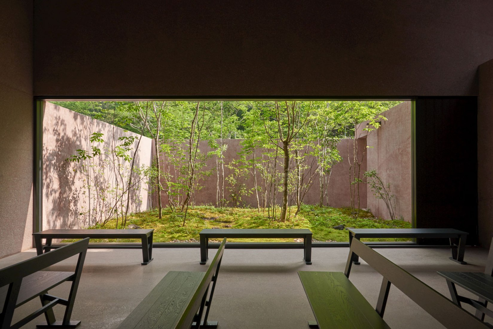 Inagawa Cemetery chapel and visitor centre by David Chipperfield Architects. Photograph © Keiko Sasaoka