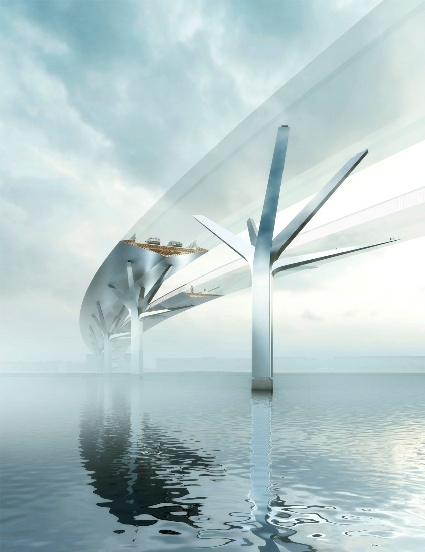 Detail. Foster + Partners wins Upper Orwell Crossings Competition in Ipswich, England