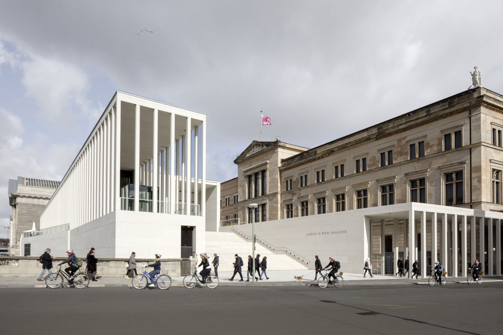 Galería James Simon de Chipperfield en Berlín. Fotografía de Ute Zscharnt.