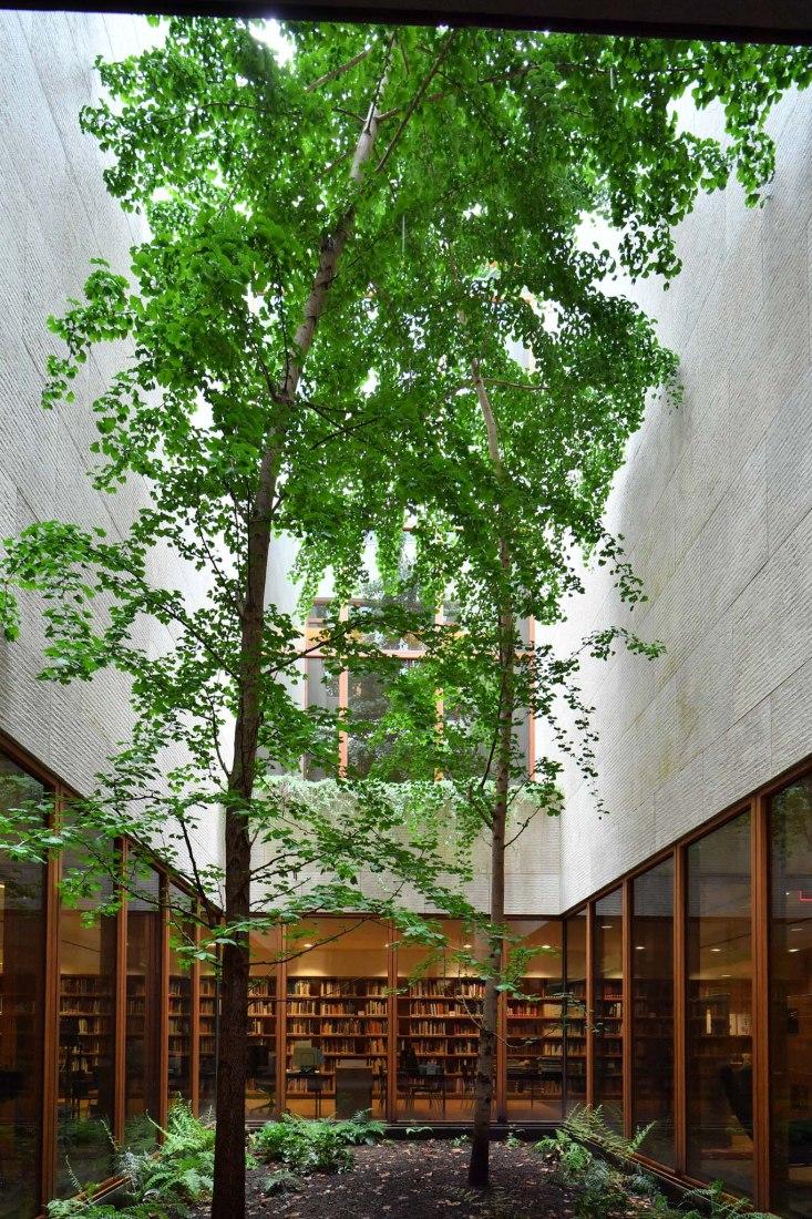 Jardín interior de la Fundación Barnes, Filadelfia, 2012. Fotografía de The Japan Art Association / The Sankei Shimbun