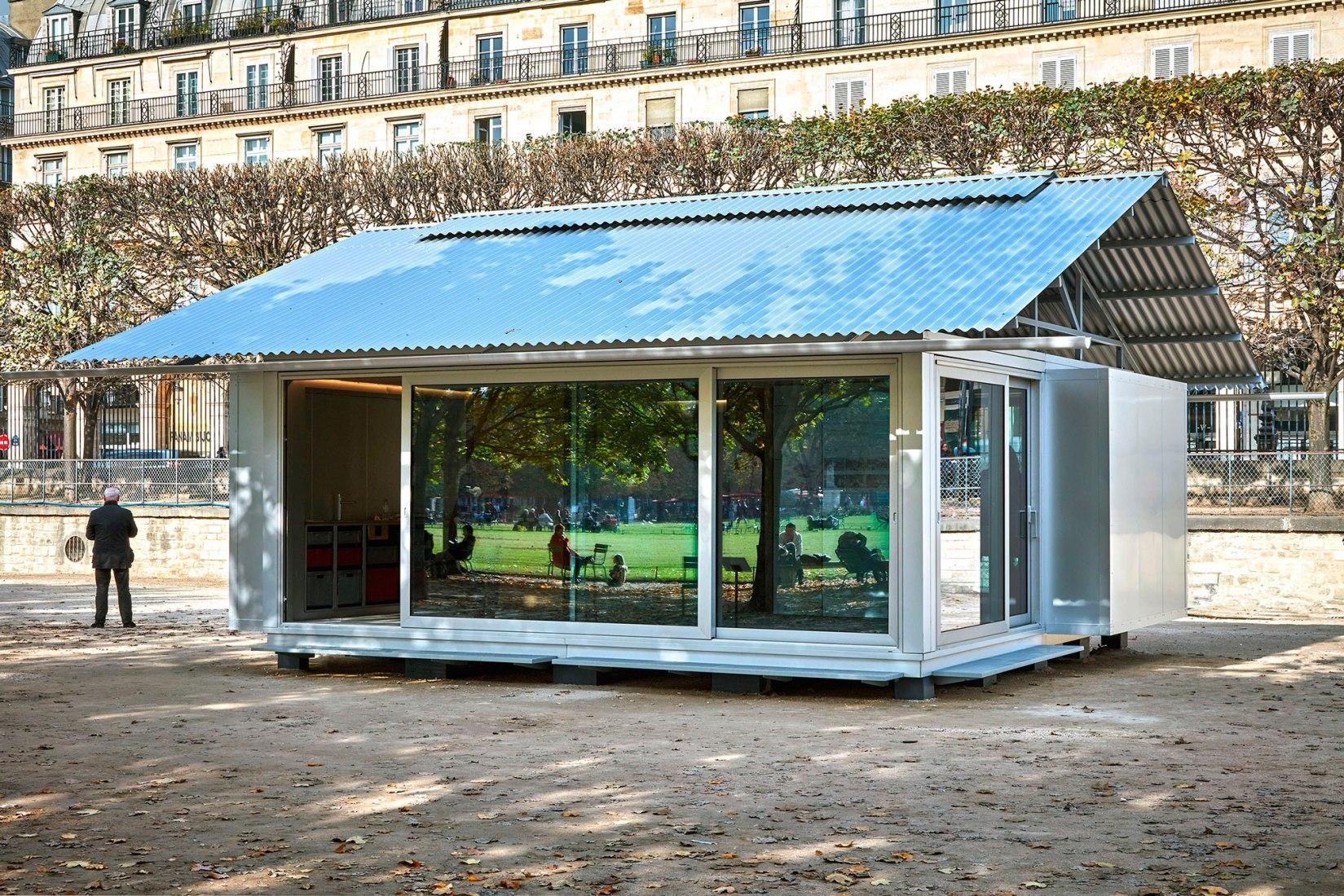 SIMPLE una vivienda prefabricada por Jean Nouvel. Fotografía © Thomas Lannes