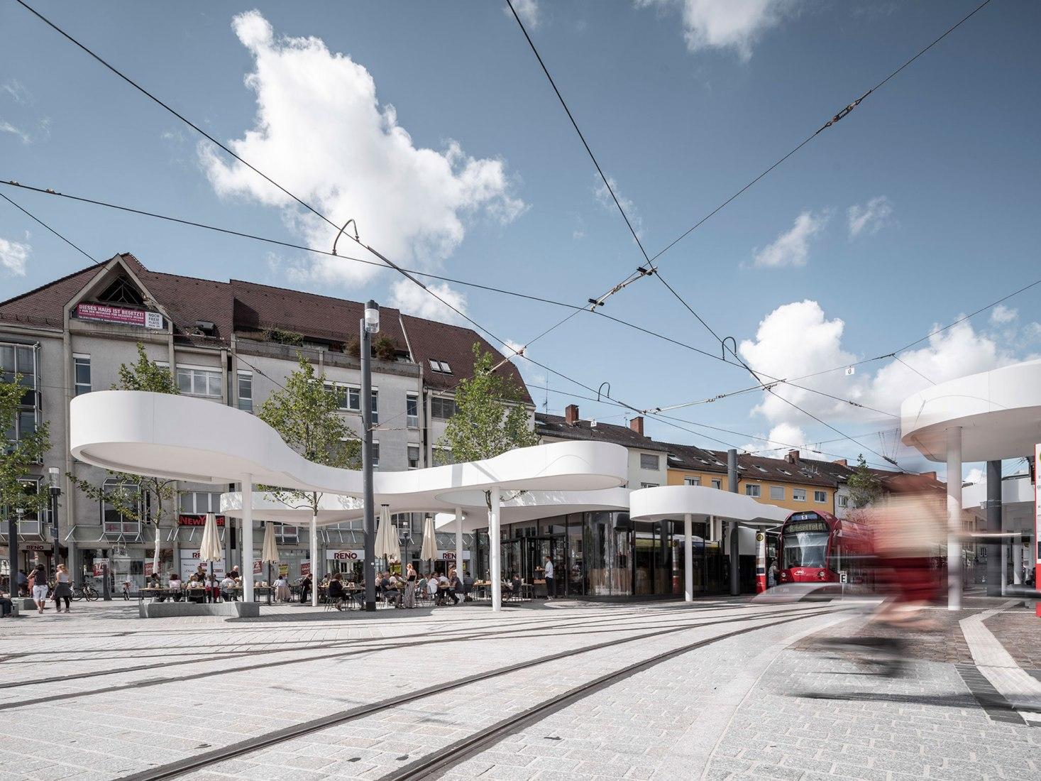 Pavilion on Europaplatz by J.MAYER H. Photograph by David Franck