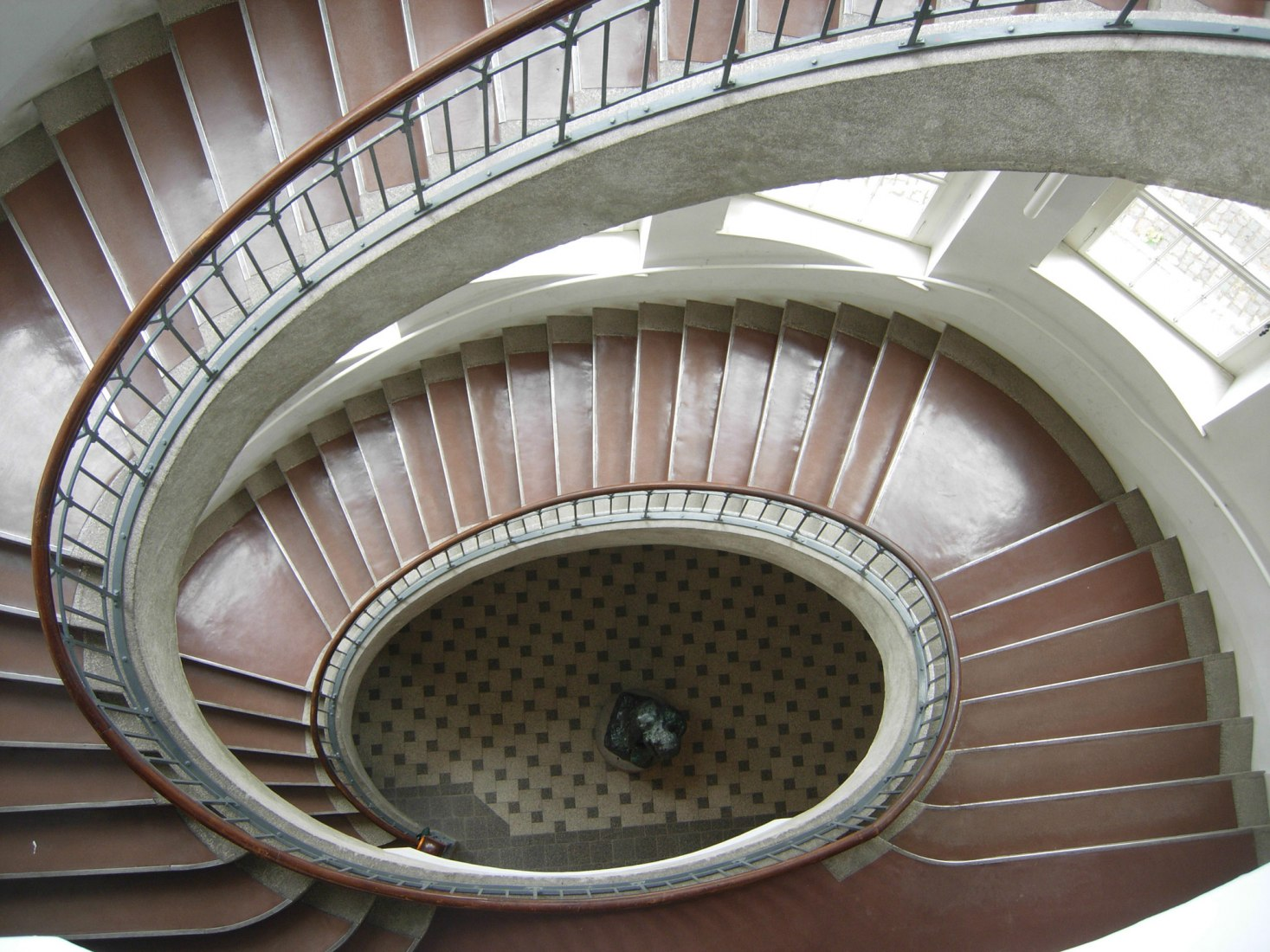 Staircase at the Bauhaus building in Weimar by Henry Van de Velde. Photograph by Josenia Hervás y Heras.