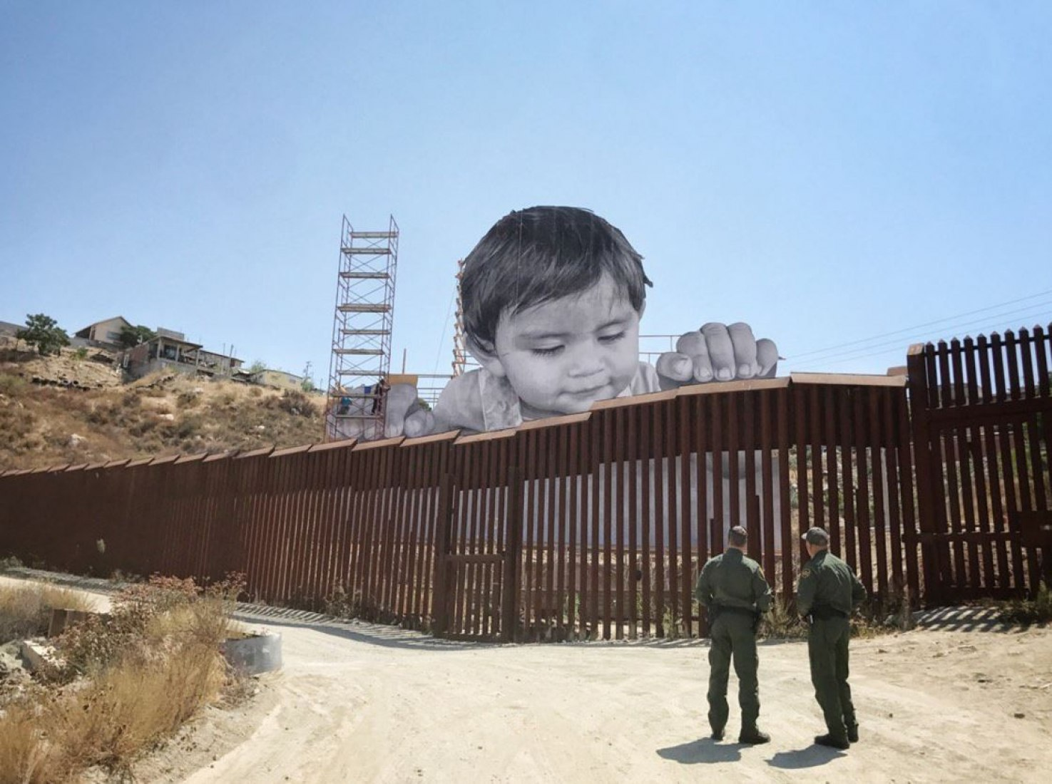 Work in progress on the Mexican side of the US/MEXICO border