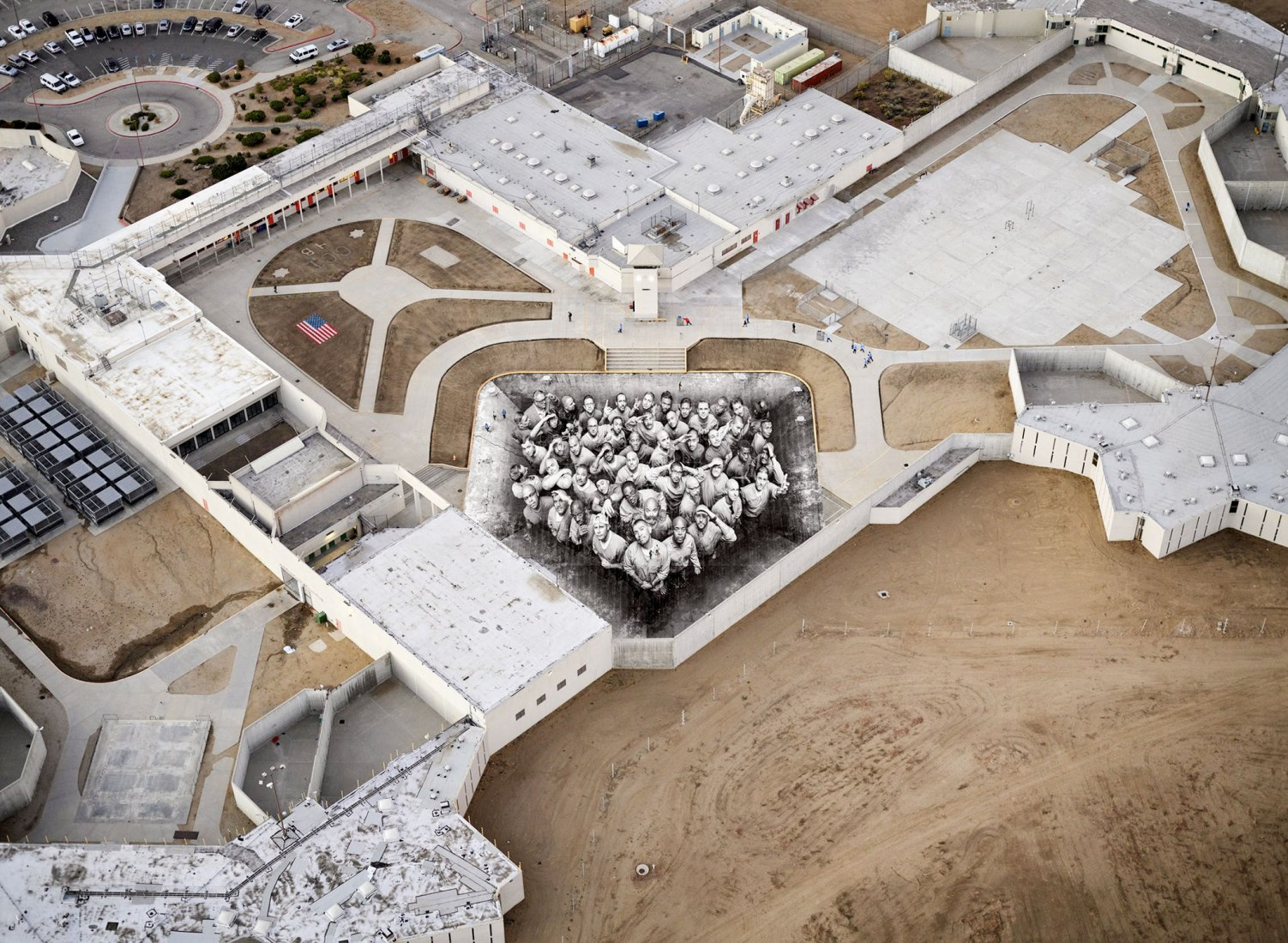 Tehachapi, California, vista aérea del pegado, 2019. Imagen cortesía del artista.