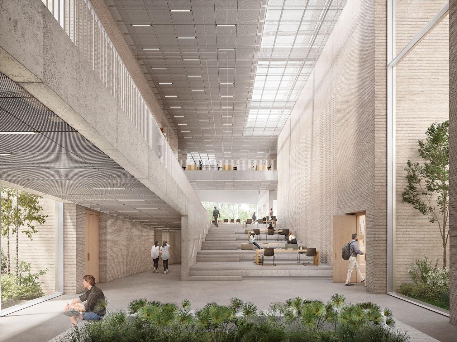 Centro de Educación Universidad de Groningen por KAAN Architecten. Visualización por Filippo Bolognese.