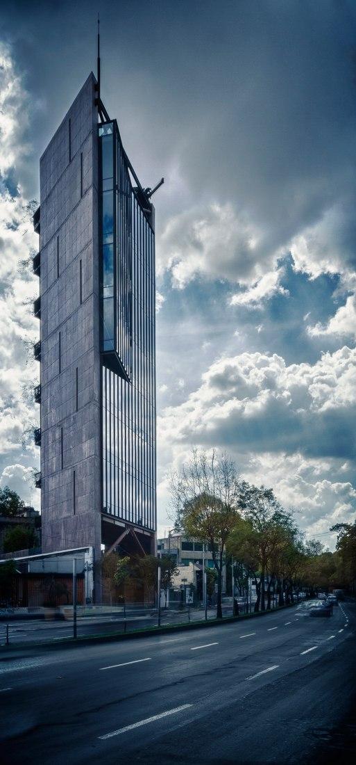 Vista exterior de Torre 41 por Alberto Kalach. Fotografía © Yoshihiro Koitani.