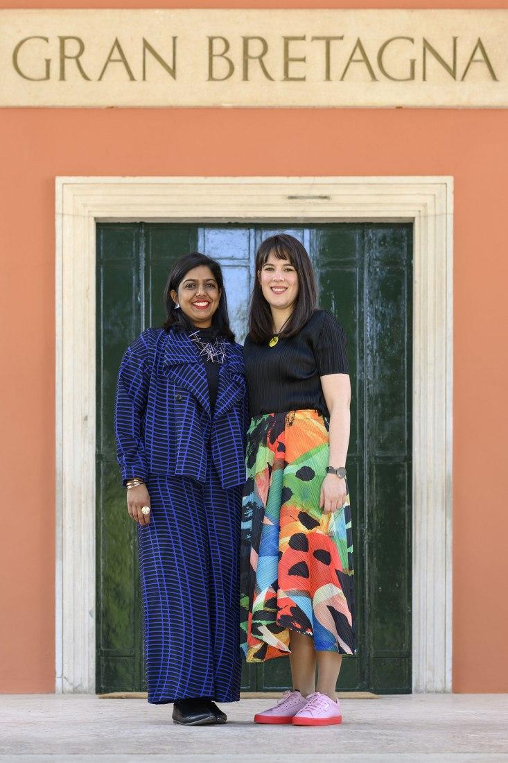 Manijeh Verghese & Madeleine Kessler, curators of British Pavilion. Photograph by Cristiano Corte