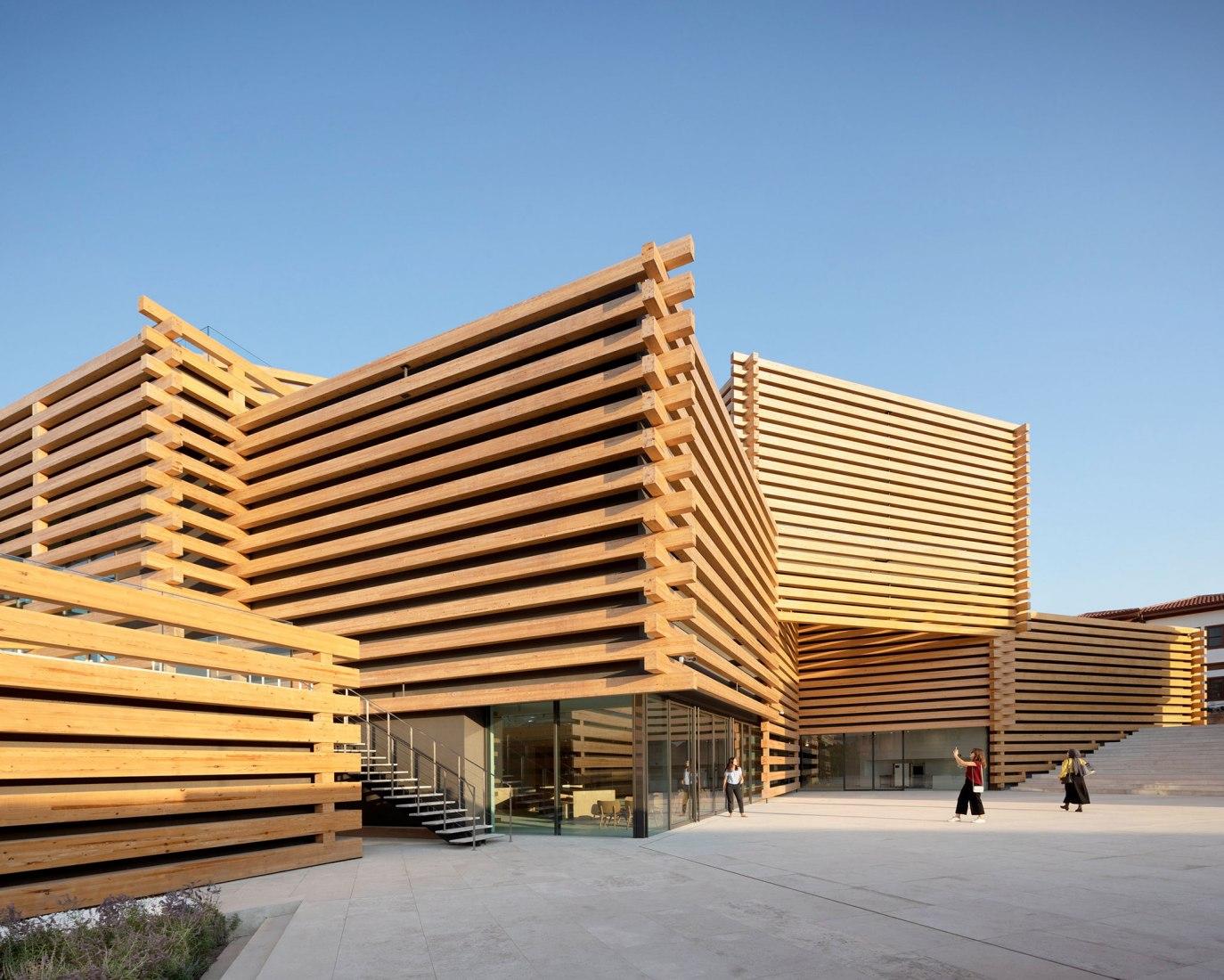 Odunpazarı Modern Museum by Kengo Kuma. Photograph by NAARO