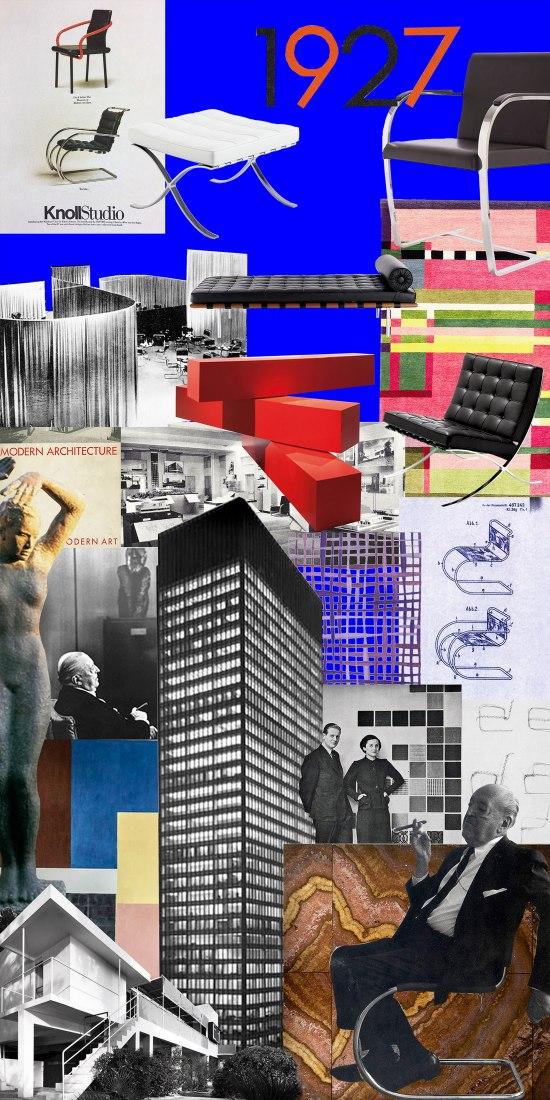 "Collage Mies. ""Knoll Celebrates Bauhaus"" by OMA / Ippolito Pestellini Laparelli. Image courtesy OMA."