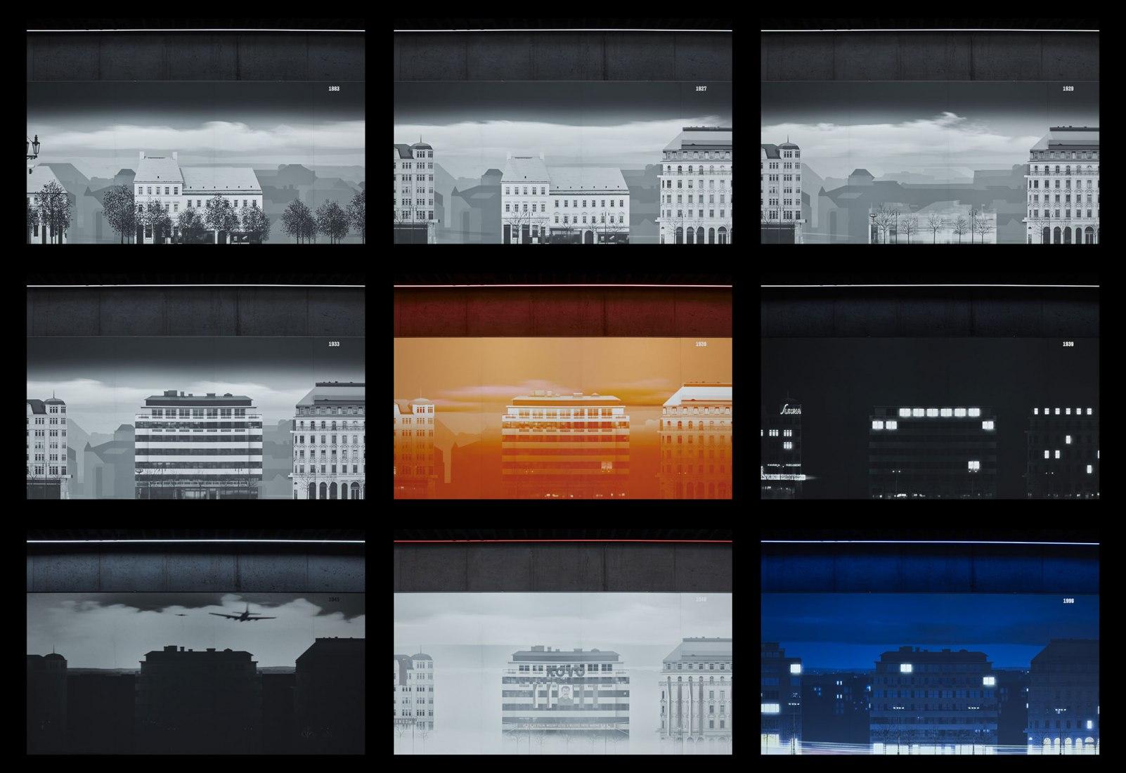 Momentos de la historia, The Time Corridor por Kolmo + Loom on the Moon + Pink Productions. Fotografía por BoysPlayNice