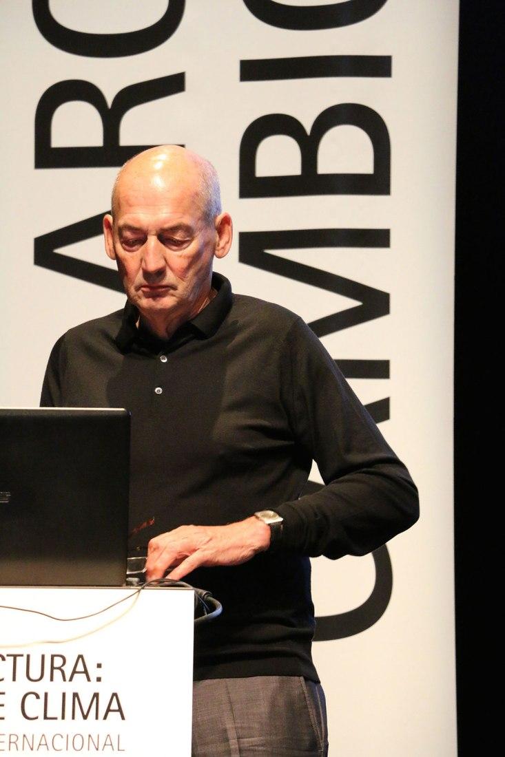 Rem Koolhaas en IV Congreso internacional de Arquitectura. Fotografía © José Juan Barba