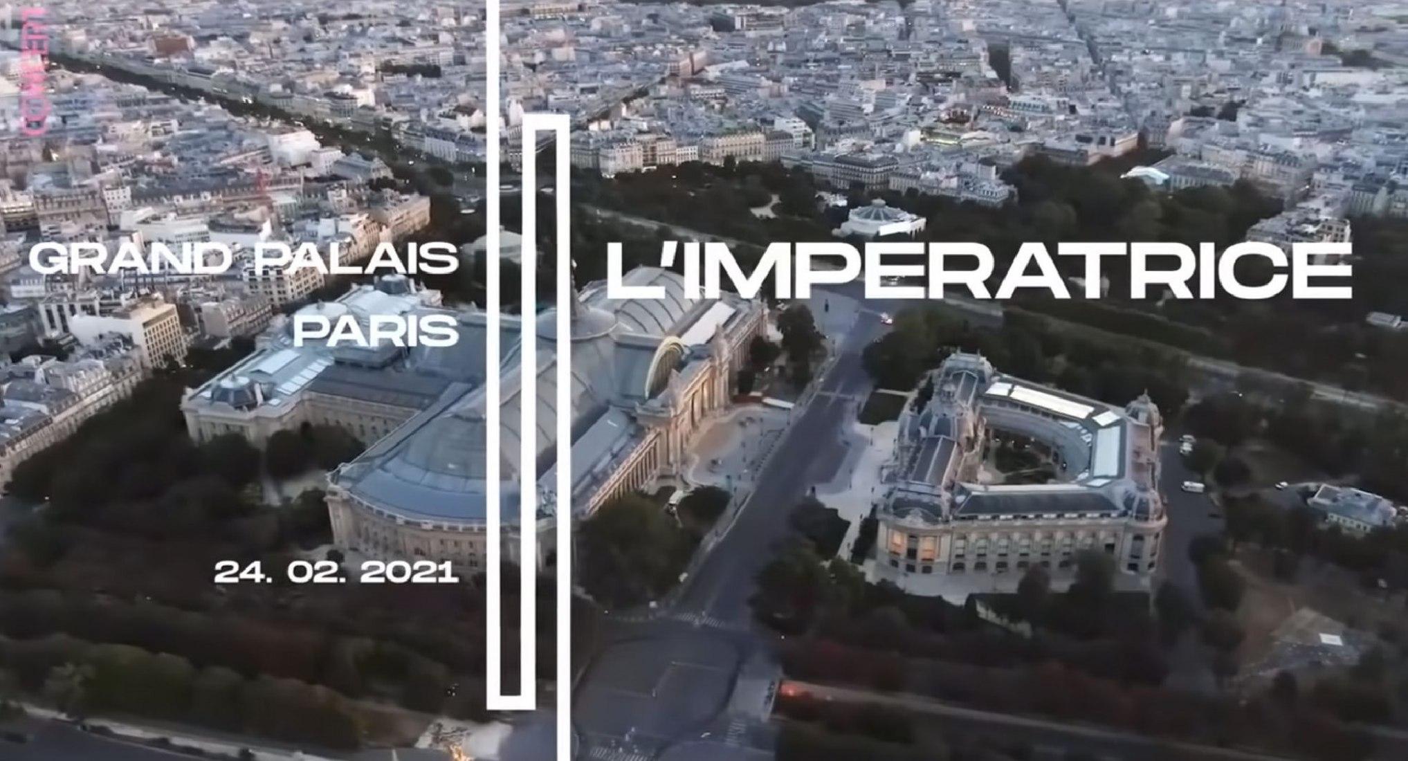 ARTE invita a L'Impératrice para un concierto inédito filmado en el Grand Palais de París.