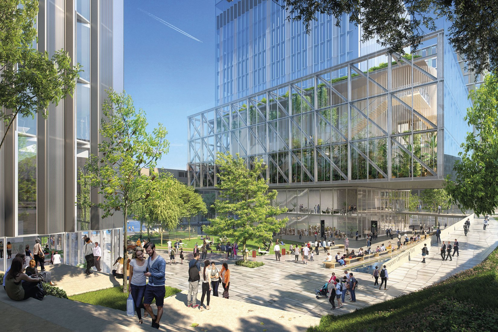1st prize of Rafael de La-Hoz for the construction of new offices of the European Commission in Brussels.