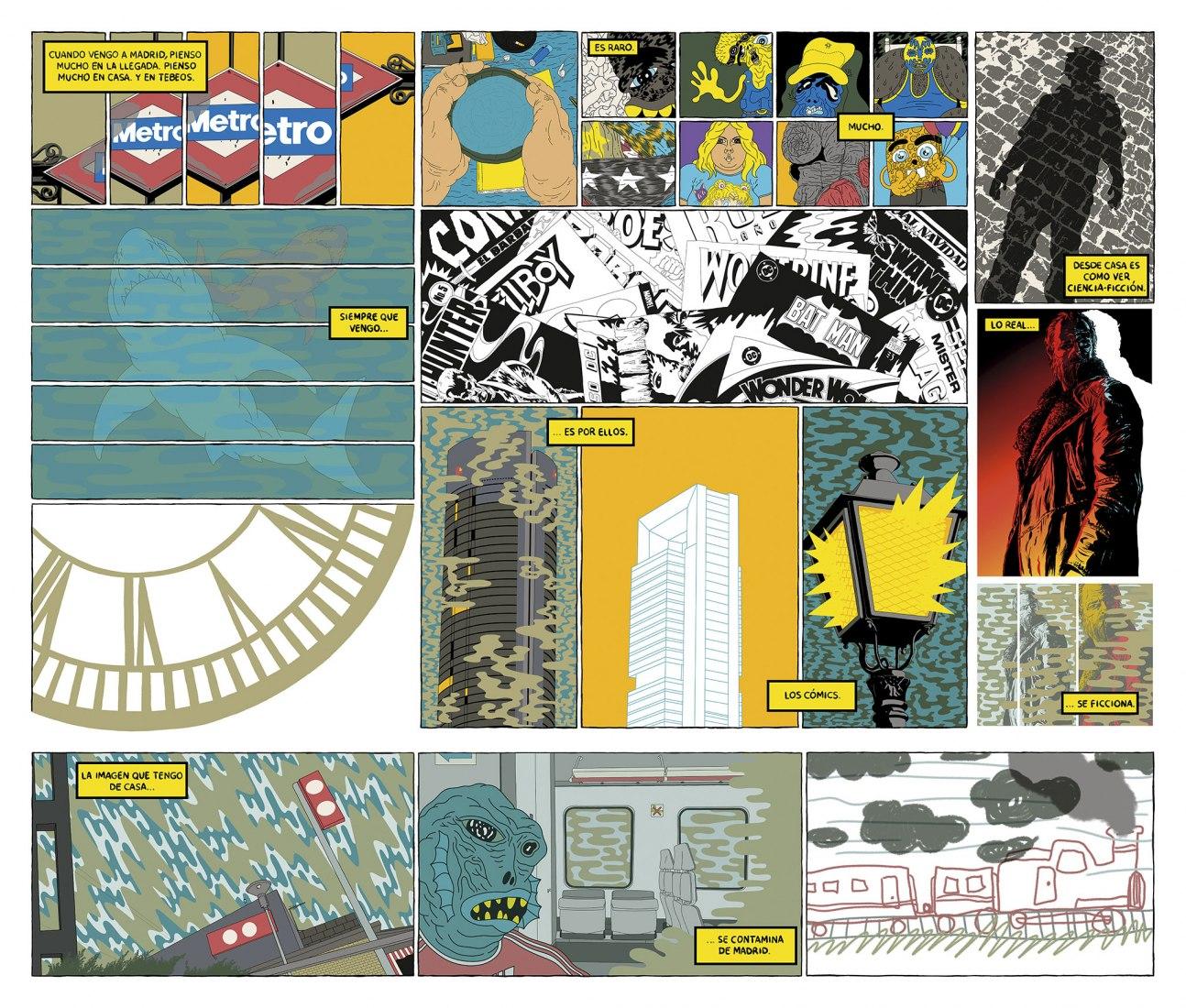 Page 1, La ciudad en viñetas, Víctor Puchalski.