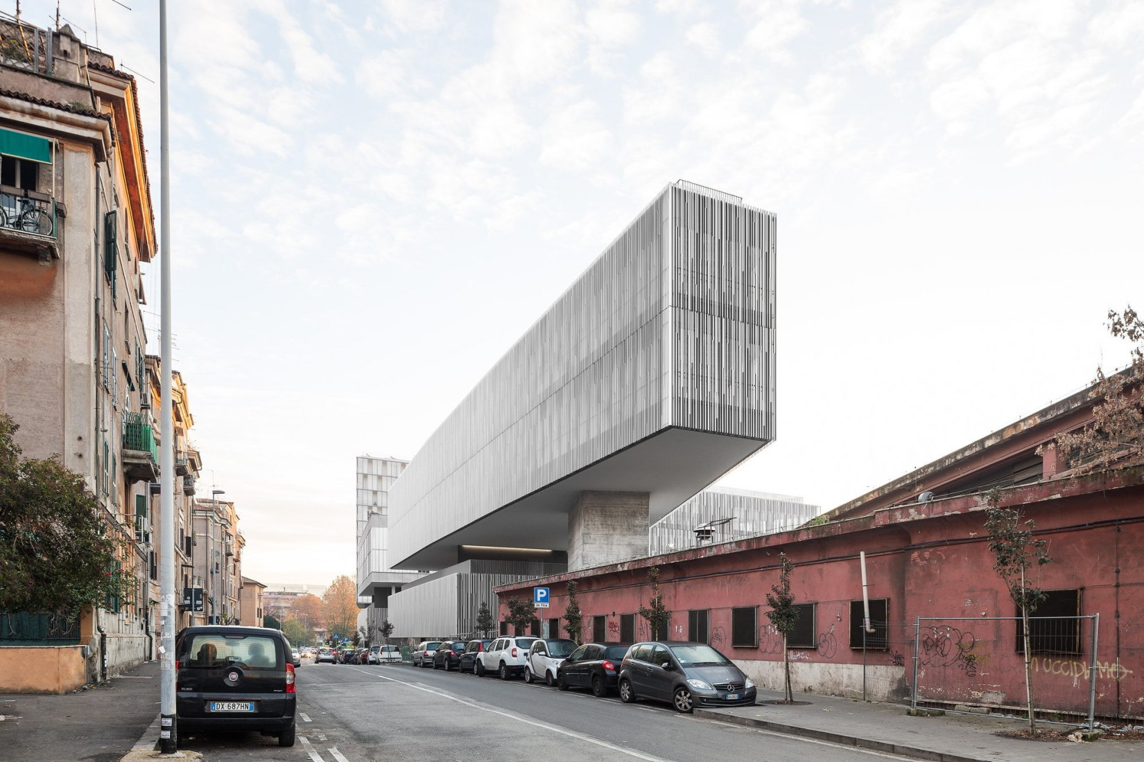 "Exterior view. Labics redevelops former bus depot into ""City of Sun"" in Rome. Photograph © Marco Cappelletti"