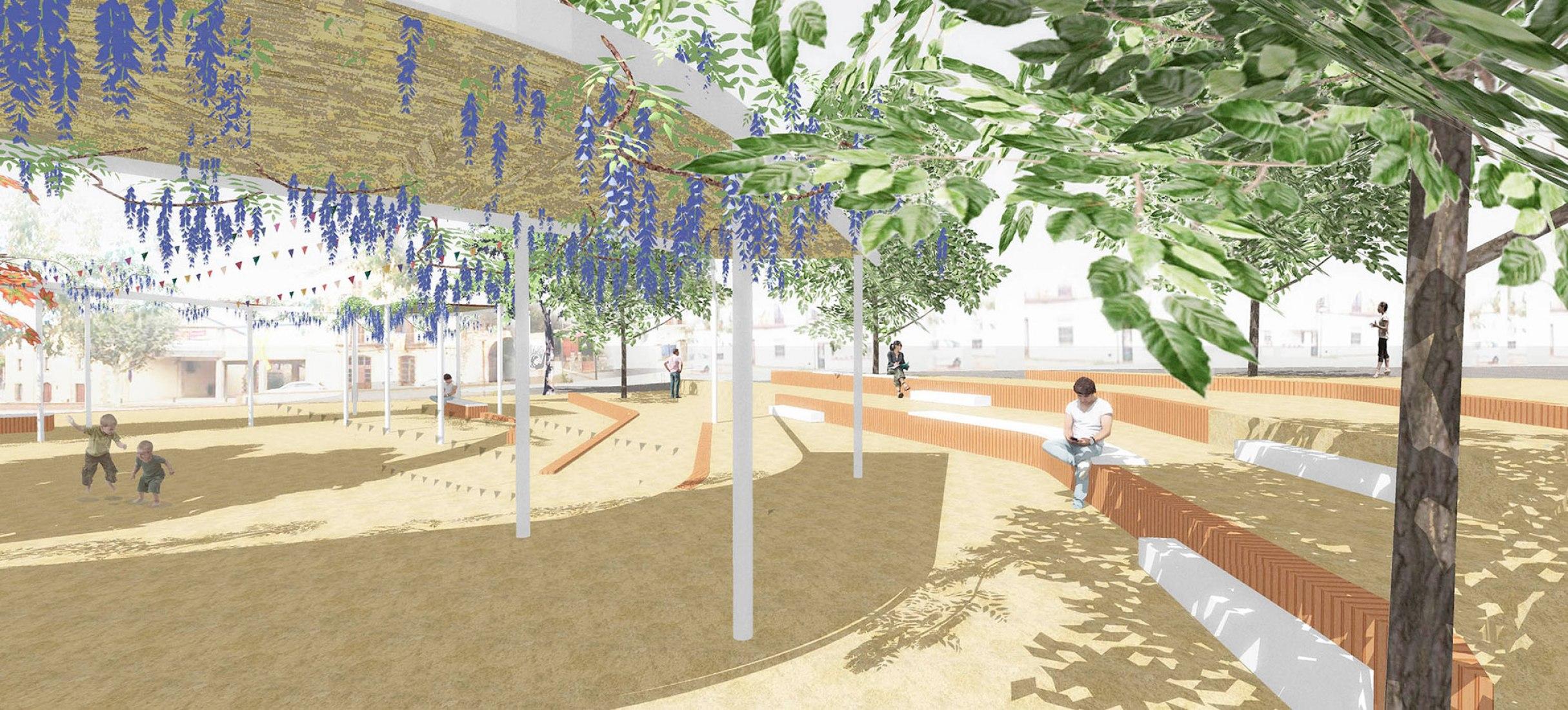 Visualización. Plaça de la Vila, en Sant Antoni de Vilamajor, Barcelona por LeA atelier