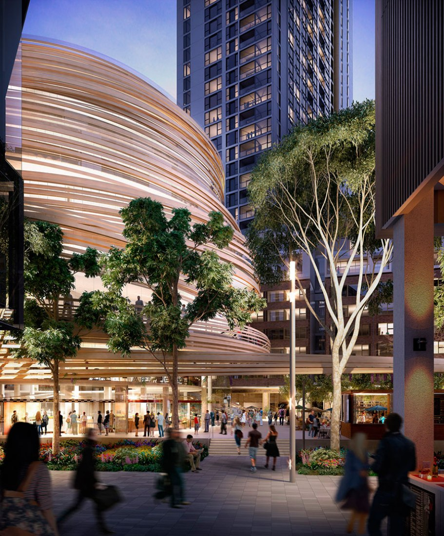 The Darling Exchange by Kengo Kuma. Courtesy of City of Sydney.