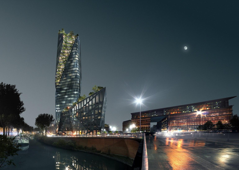 Occitanie Tower, Toulouse, by Daniel Libeskind Studio. Image by Luxigon / Daniel Libeskind