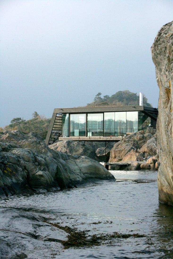 Vivienda Lille Arøya por Lund Hagem Arquitectos. Fotografía © Alexandre Westberg