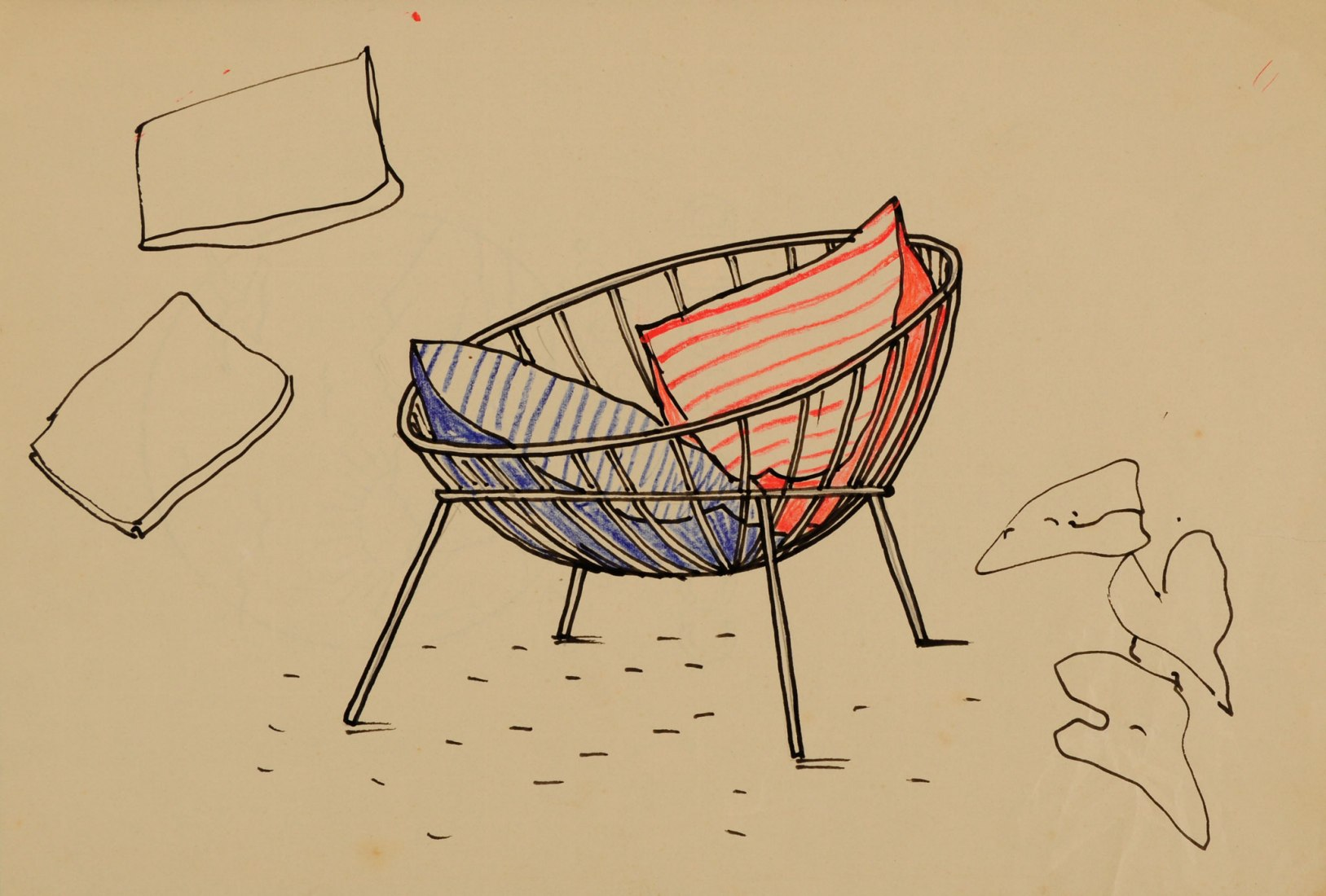 Lina Bo Bardi, Project for a version of the armchair