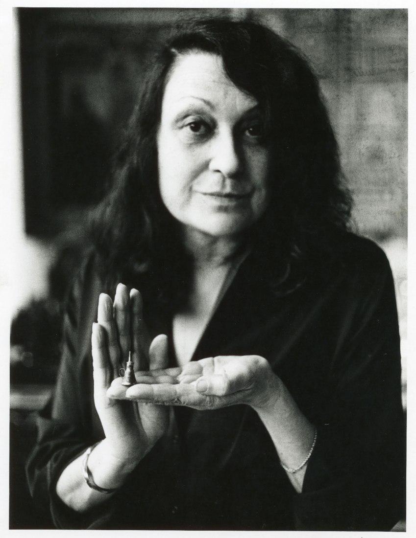 Portrait of Lina Bo Bardi. Photograph by Bob Wolfenson.