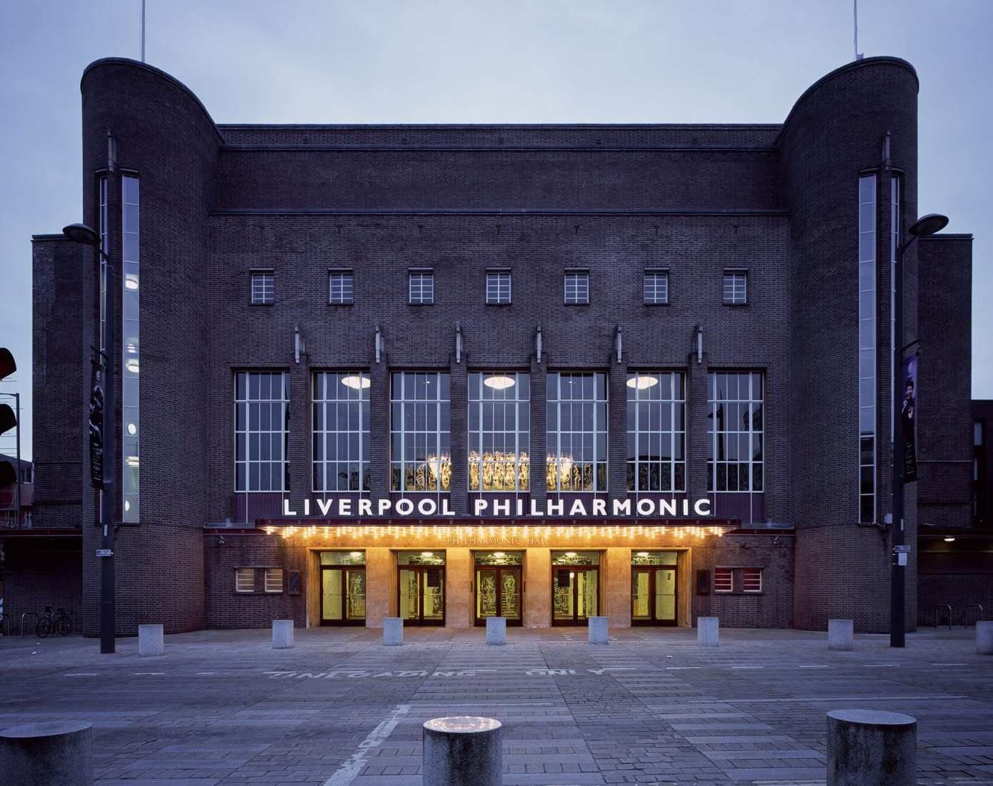 Exterior view. Liverpool Philharmonic Hall renovation by Caruso St John Architects. Photograph © Hélène Binet