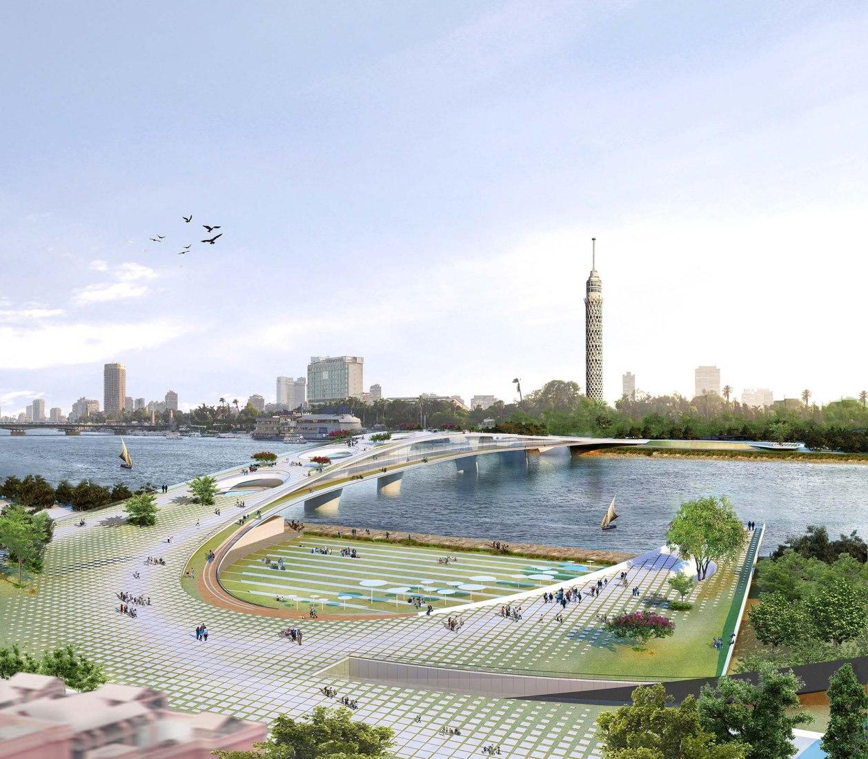 Puente peatonal sobre el Nilo por Rifat Chadirji Prize 2020 por Ali Khaled Elewa, Mostafa Ahmed Zakaria, Sherif Khaled Abdelkhaleq, Hoda Essam Abdelmawla y Ebtisam Elgizawy. Imágenes cortesía de Premio Rifat Chadirji 2020