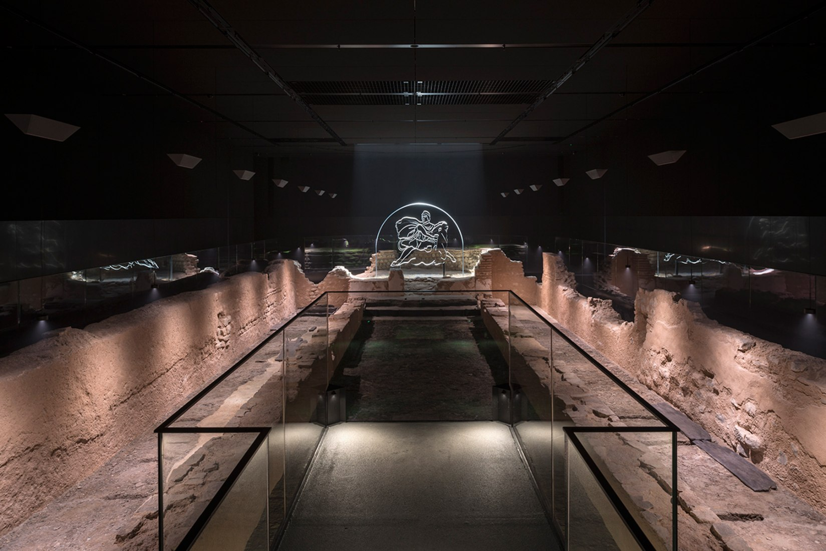 London Mithraeum is a faithful reconstruction of the Temple of Mithras as it stood on this site nearly two thousand years ago. Photograph by James Newton. Image courtesy of London Mithraeum Bloomberg SPACE