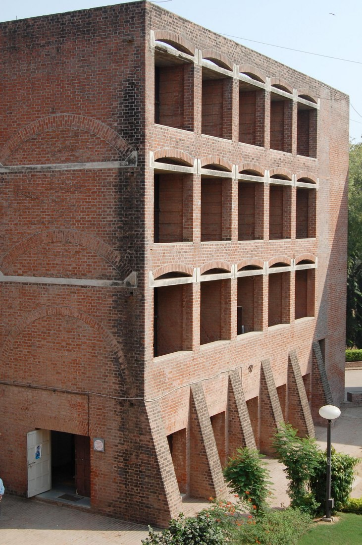 One of the 18 older, at-risk brick dorm buildings (Students of IIMA/Wikimedia Commons).
