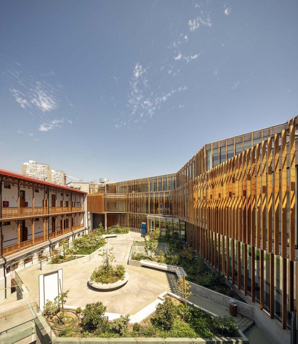 Matta Sur Community Centre + CESFAM by Luis Vidal + Arquitectos. Photograph by Aryeh Kornfeld.