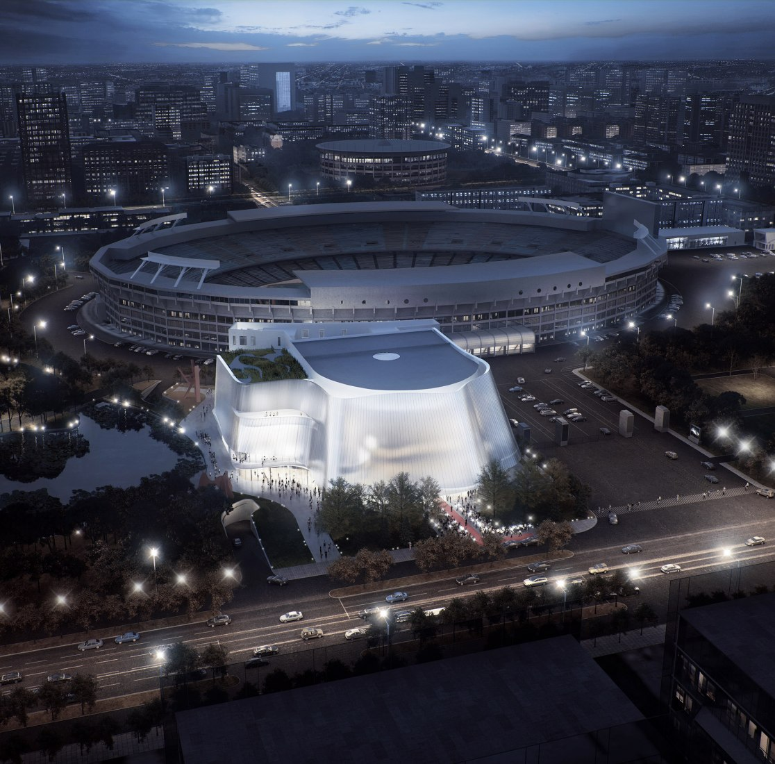 Design for the China Philharmonic's New Concert Hall in Beijing by MAD Architects.