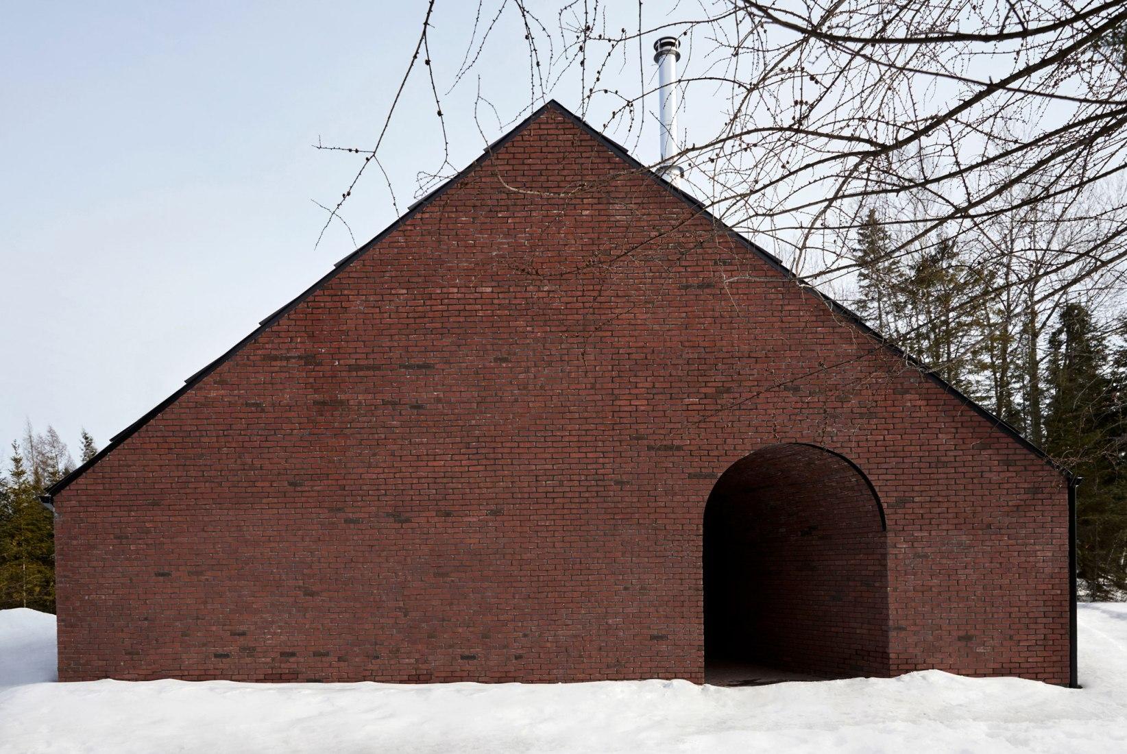 Vista exterior. Casa Gauthier por Atelier Barda architecture. Fotografía por Maxime Desbiens y Juliette Busch