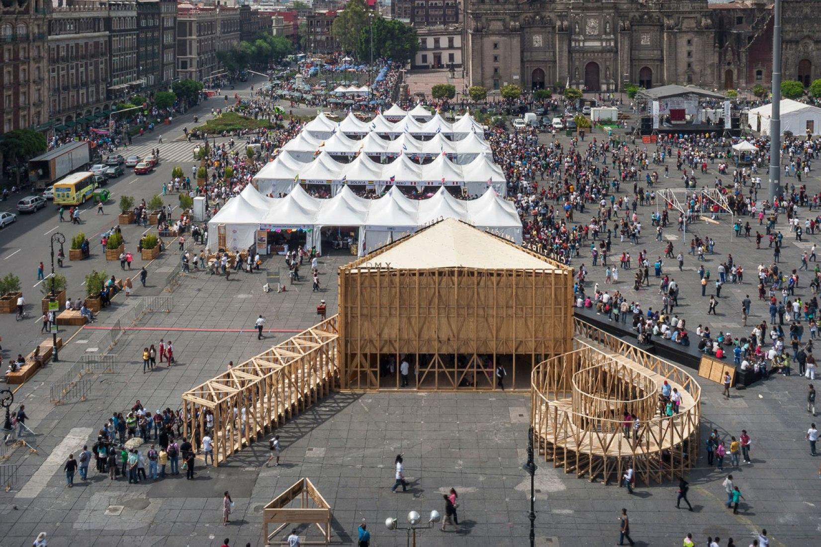 Ganador MCHAP.emerge 2014/15. Pabellón de México para la Feria de las Culturas 2014 por Productora. Fotografía © Luis Gallardo