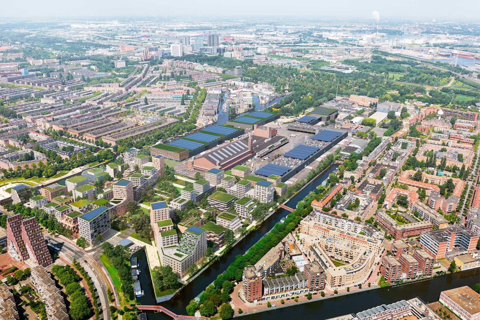 Masterplan Marktkwartier Amsterdam por Mecanoo. Imagen cortesía de Mecanoo