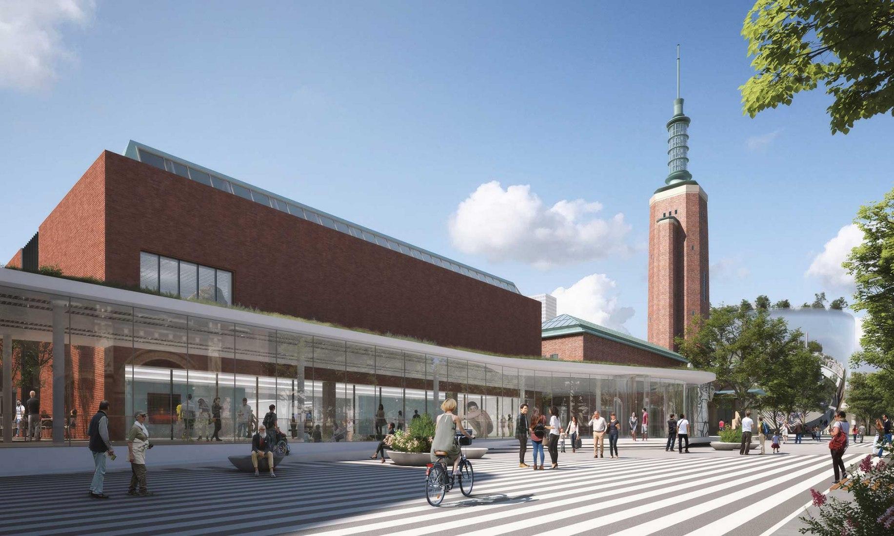 Rendering. New wing in Museum Boijmans van Beuningen by Mecanoo