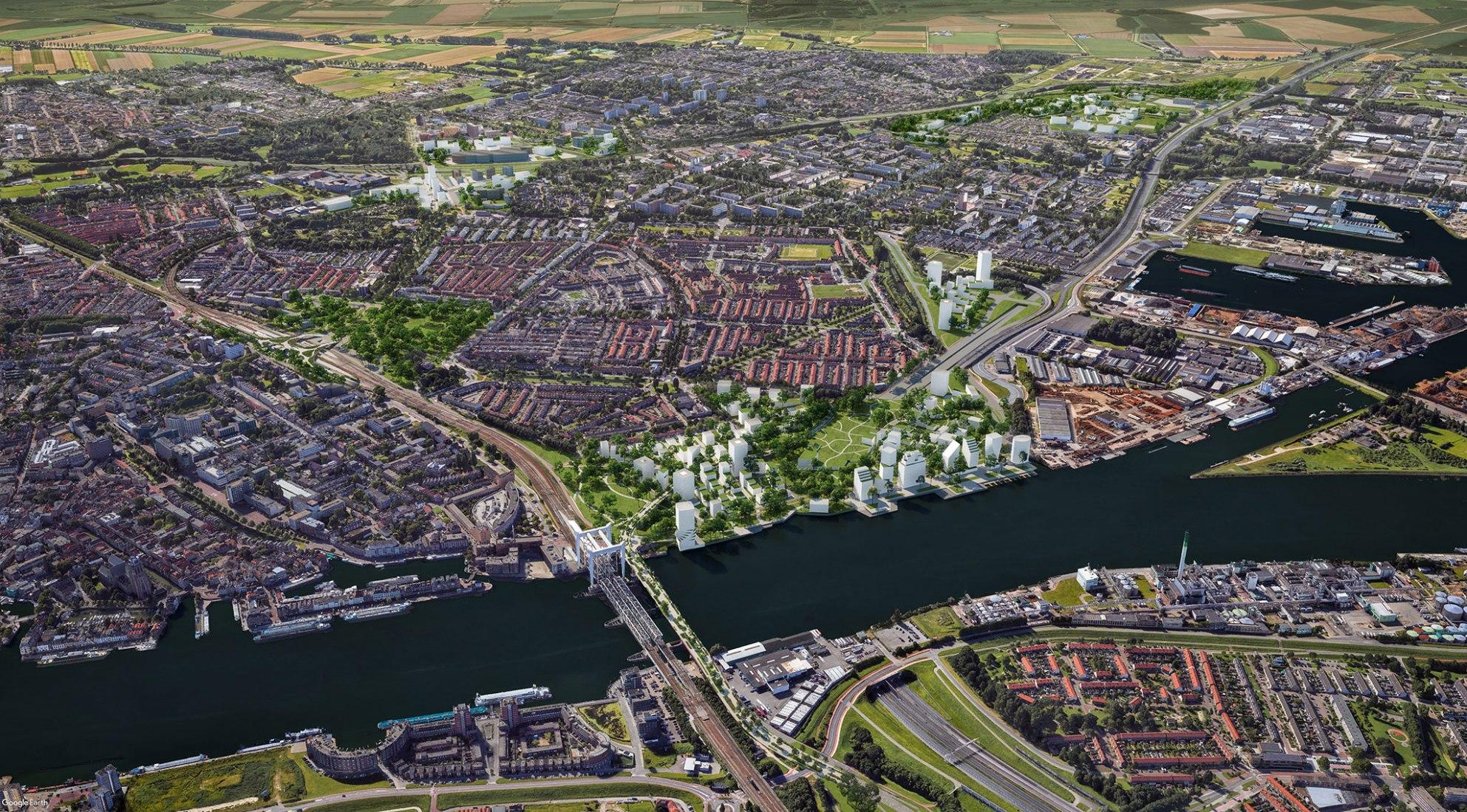 Spoorzone Dordrecht por Mecanoo. Visualización por Mecanoo