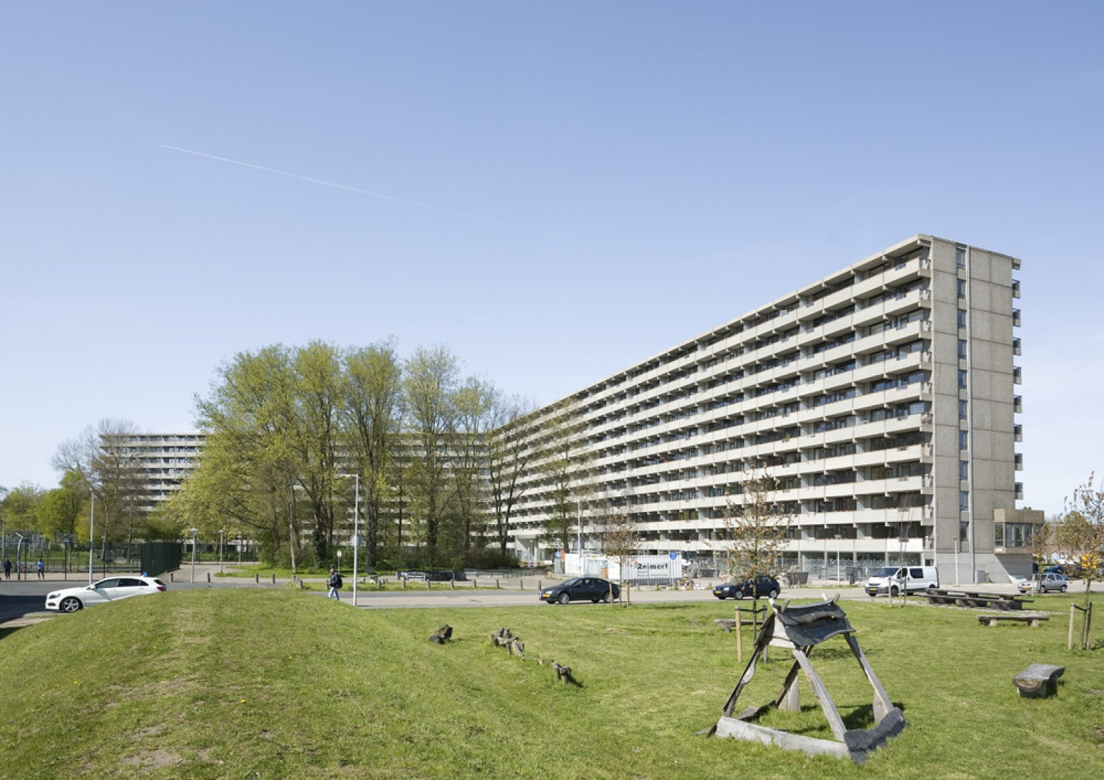 5 finalists. Outside view. deFlat Kleiburg by NL Architects and XVW architectuur. Image © Marcel van der Brug.