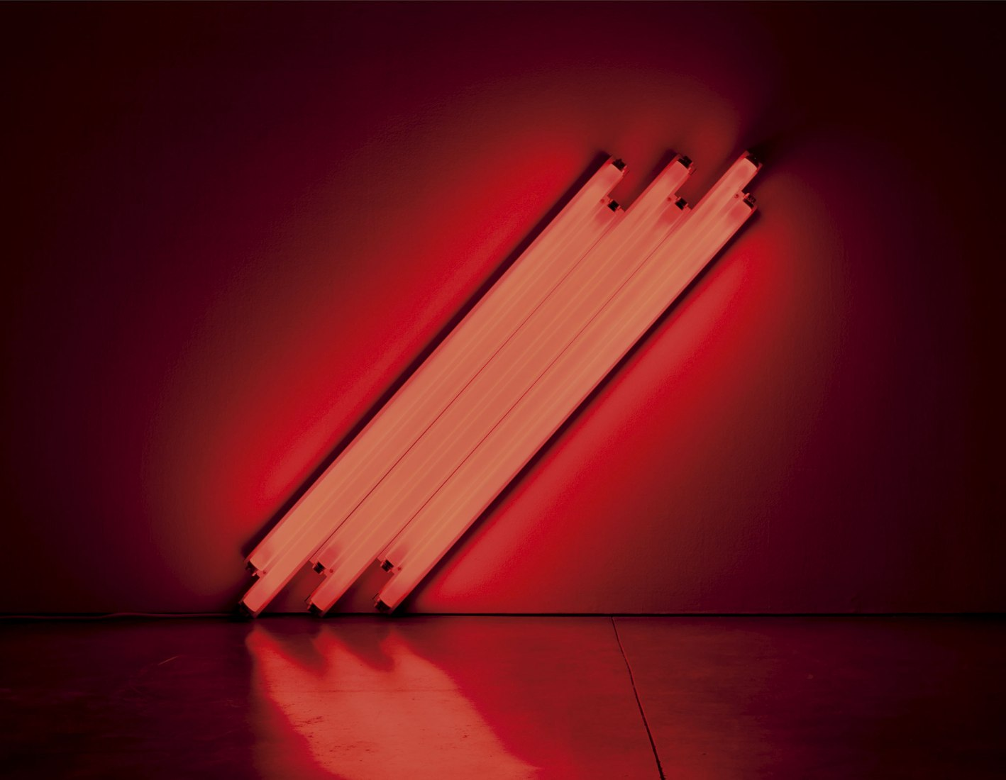 Dan Flavin  untitled (to V. Mayakovsky) 1, 1987. Zeit Contemporary Art. Minimal Means: Concrete Inventions in the US, Brazil and Spain