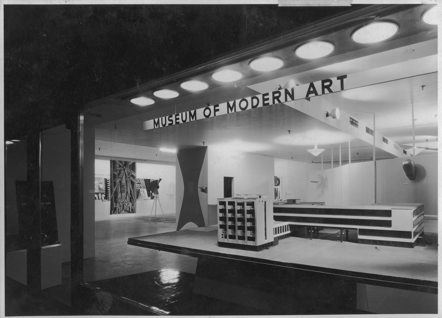 Installation view of the exhibition, Bauhaus: 1919-1928, on view December 7, 1938 through January 30, 1939 at The Museum of Modern Art, New York. Image courtesy of The Museum of Modern Art Archives, New York. Photographer: Soichi Sunami
