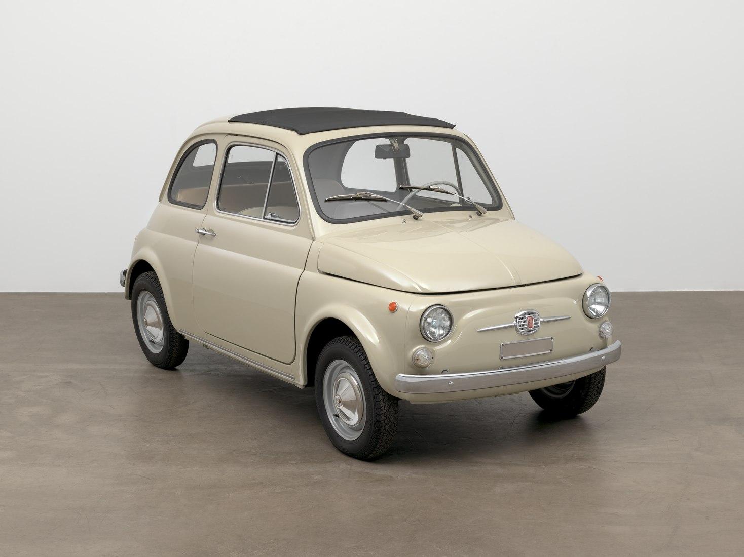 Original-condition 1968 Fiat 500. MoMA's Collection.