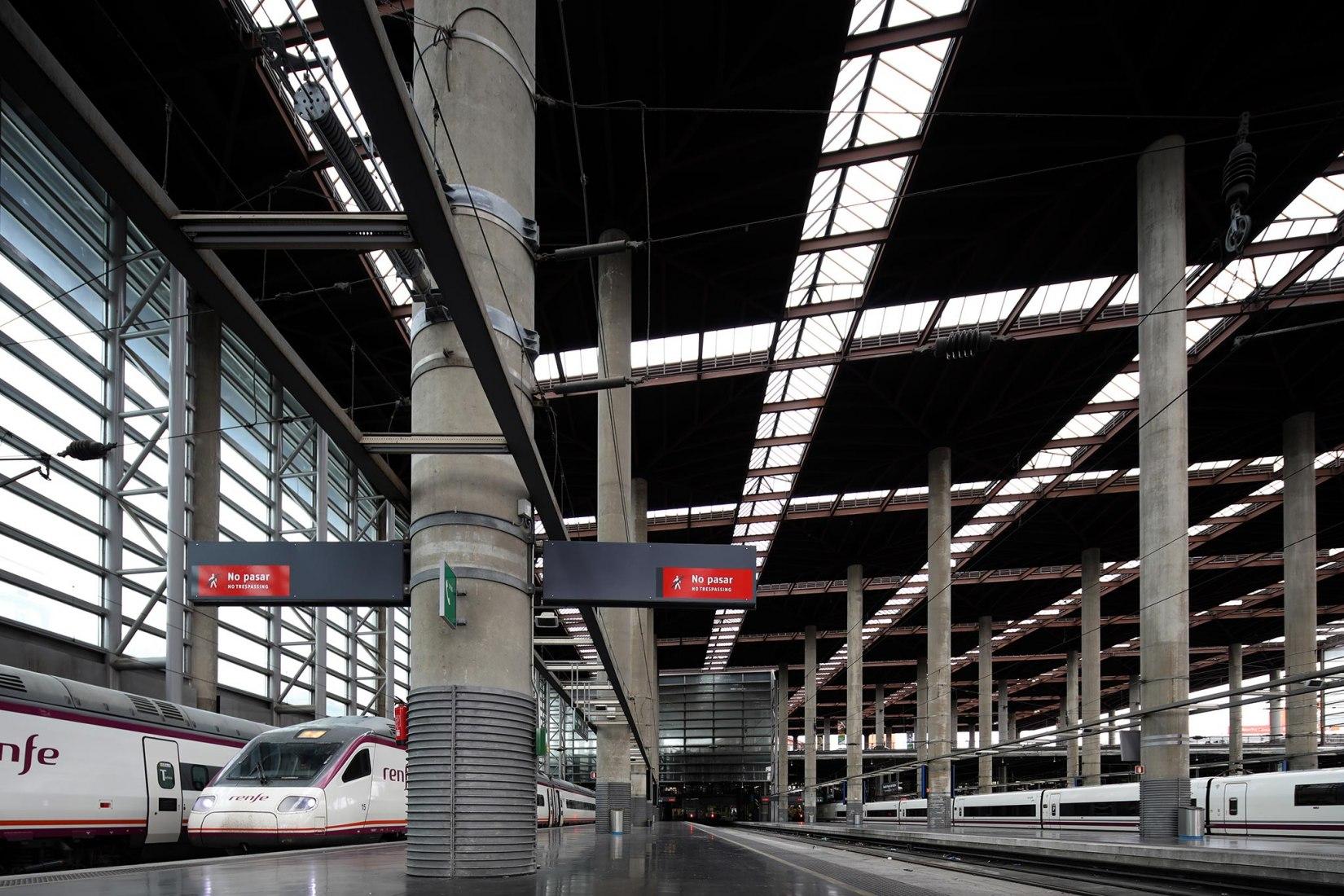 Madrid Estación de tren de Atocha, 1992, Madrid. Imagen cortesía de Praemium Imperiale