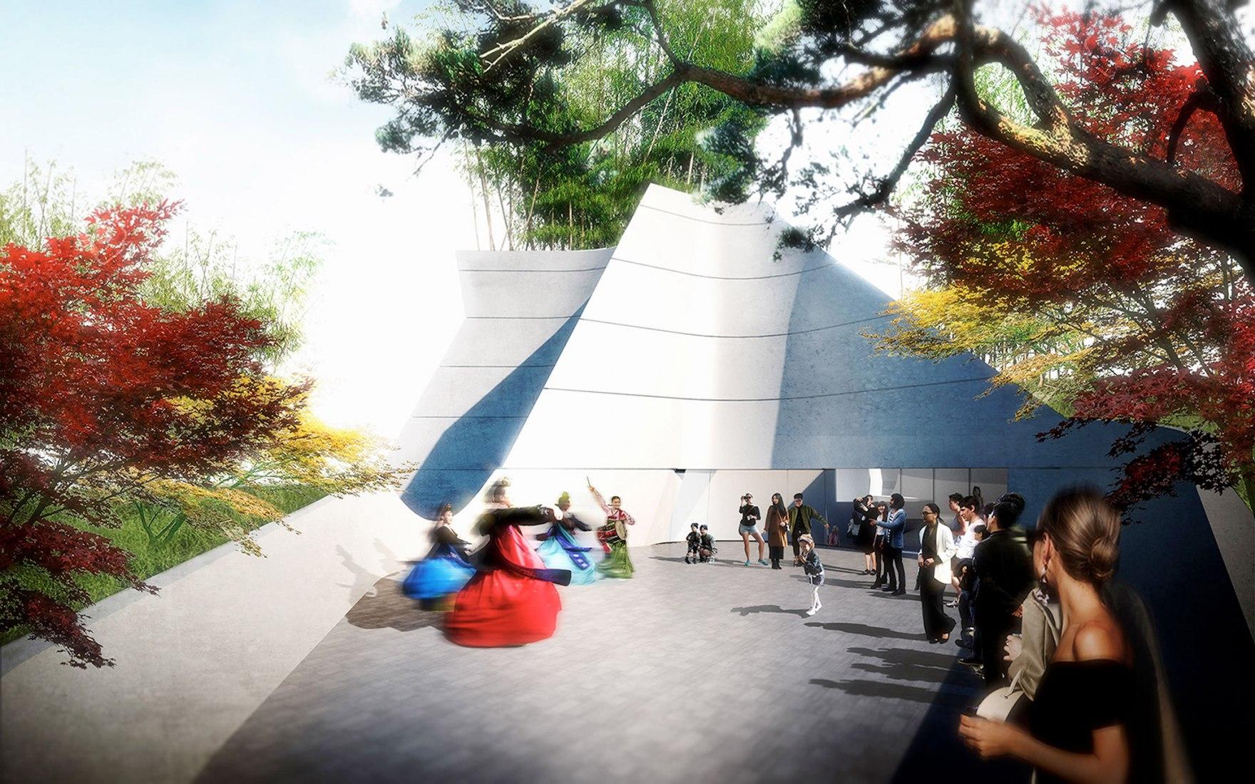 Rendering. New Korean American National Museum in Los Angeles by Morphosis. Image courtesy of Morphosis.