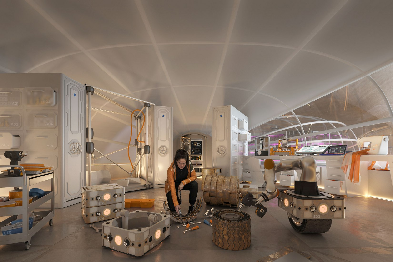 Mars Habitat by Hassell, image credit: HASSELL + Eckersley O'Callaghan.