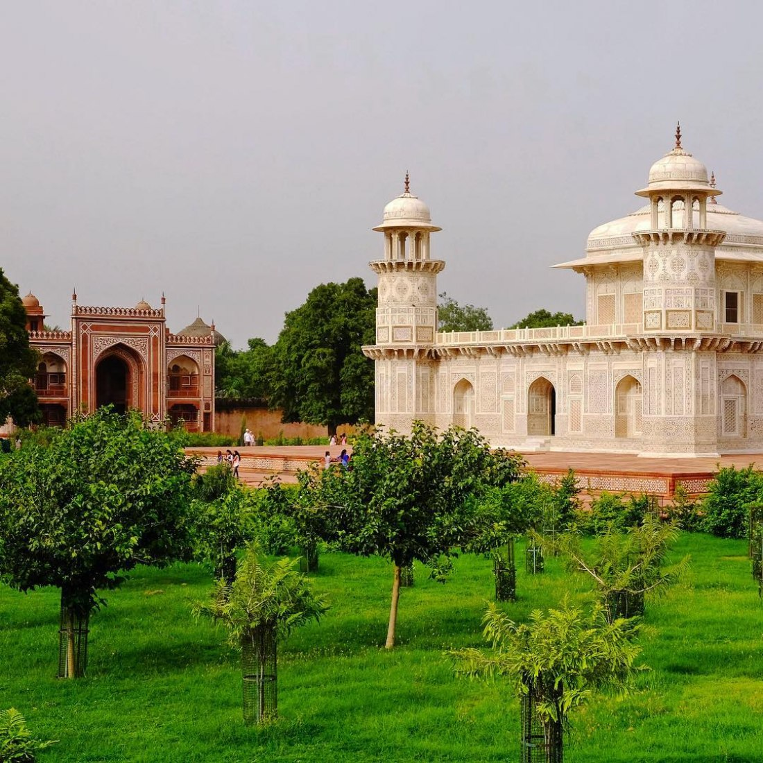 The newly restored Garden of the Tomb of I'timad-ud-Daulah Courtesy of the World Monuments Fund