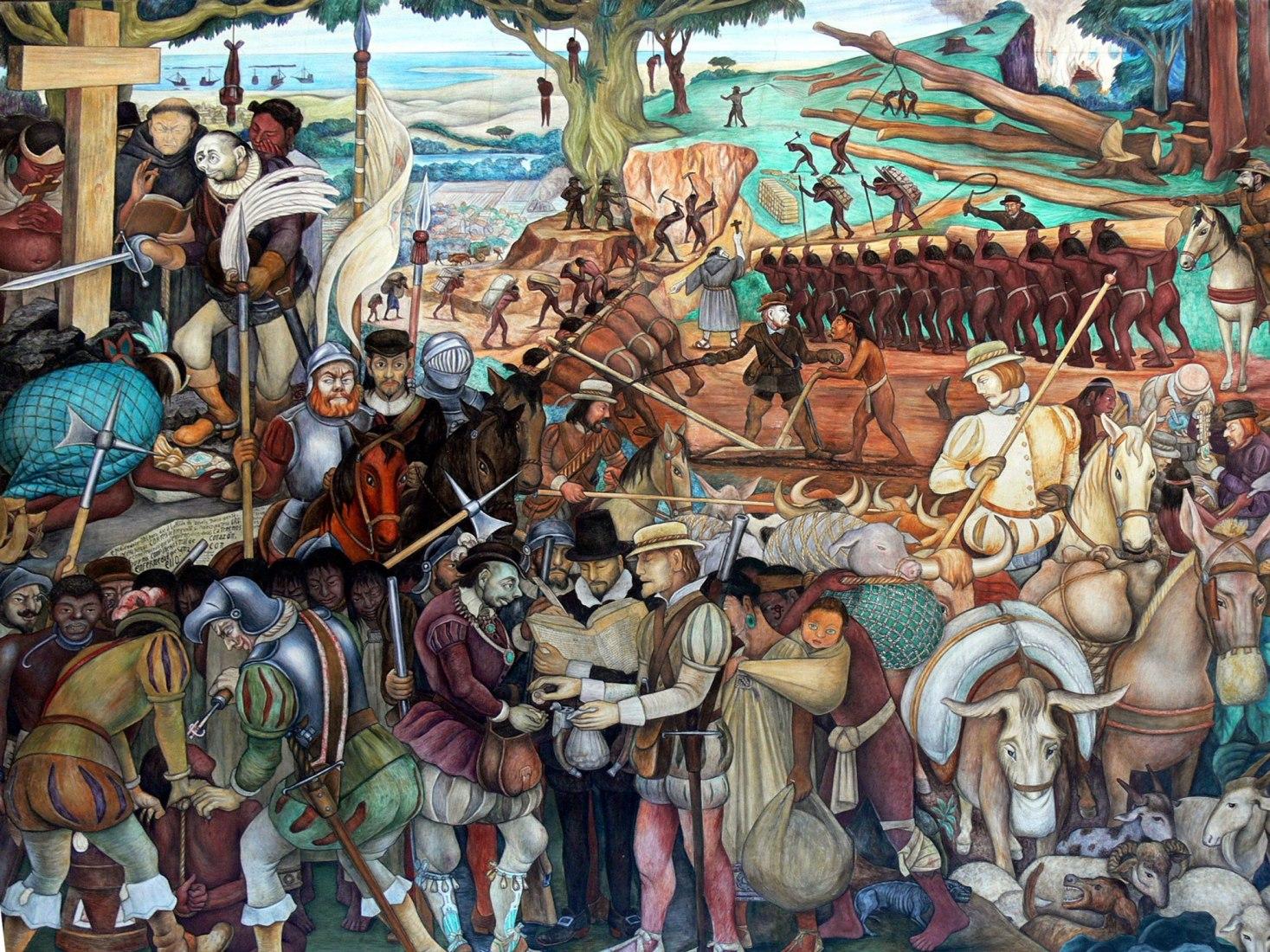 Palacio Nacional de la Ciudad de México. Mural (1929-1945) de Diego Rivera