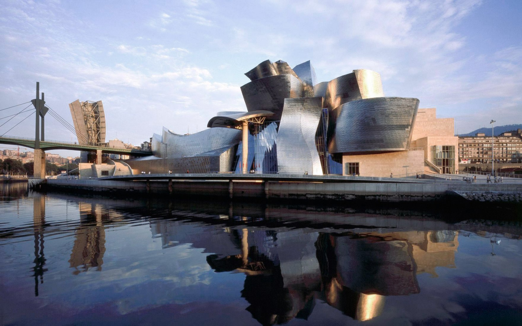 Daytime view of the Guggenheim Museum Bilbao. Image courtesy of Guggenheim Museum Bilbao.