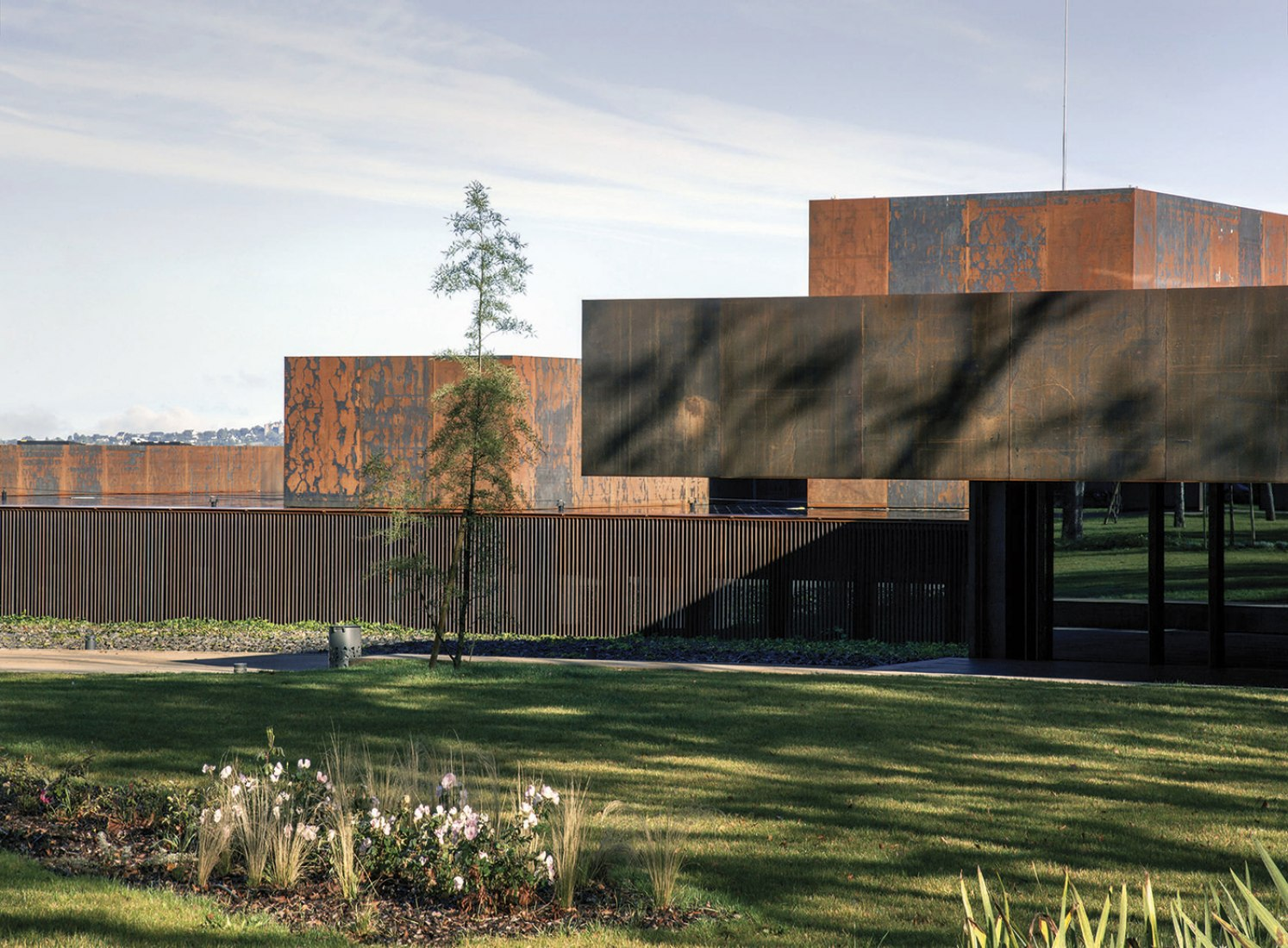 Outside view of the Soulages Museum by RCR Arquitectes. Photograph © Hisao Suzuki.