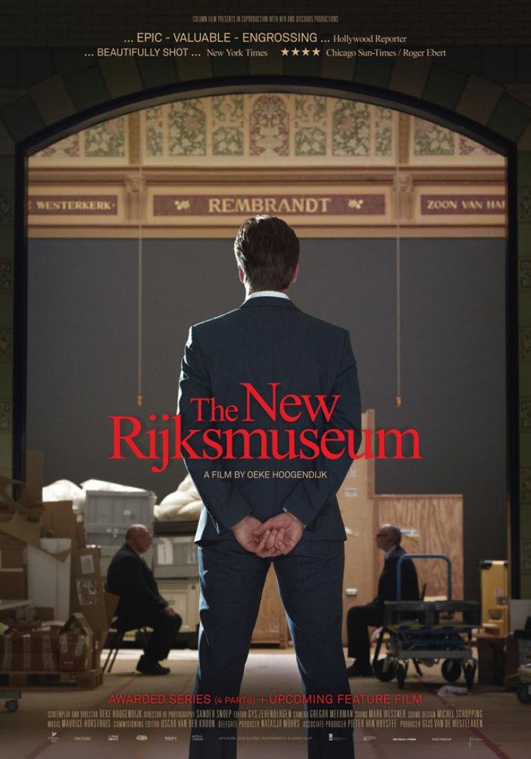 Poster of the documentary 'The New Rijksmuseum' by Oeke Hoogendijk. Image courtesy of Actitud de Comunicación.